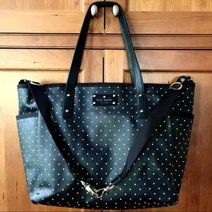 Kate Spade Large Tote Bag Black & White Polka Dot